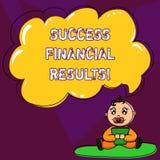 Текст почерка писать финансовые результаты успеха Количество смысла концепции выгоды компания делает во время сидеть младенца пер иллюстрация вектора