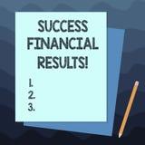 Текст почерка писать финансовые результаты успеха Количество смысла концепции выгоды компания делает во время стога периода  иллюстрация штока