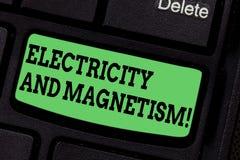 Текст почерка писать электричество и магнетизм Смысл концепции овеществляет одиночную электромагнитную силу ядра стоковые фотографии rf