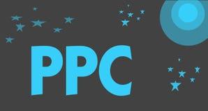 Текст почерка писать Ppc Рекламодателя смысла концепции оплачивают гонорар каждый раз одно из их объявлений щелкнутый маркетинг бесплатная иллюстрация