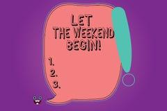 Текст почерка позволил выходным начать Начало смысла концепции конца недели быть жизнерадостно наслаждается пустым цветом бесплатная иллюстрация