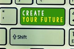 Текст почерка создает ваше будущее Цели цели и карьеры смысла концепции установленные планируют вперед достигают вне иллюстрация штока