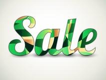 Текст продажи - тени зеленого цвета Иллюстрация вектора
