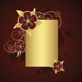 текст рамки золотистый Стоковая Фотография RF