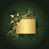 текст рамки золотистый Стоковые Фото