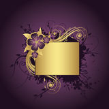 текст рамки золотистый Стоковое Изображение RF