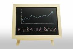 текст риска высокого возвращения дела Стоковое фото RF