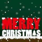 текст снежка рождества веселый Стоковые Фото