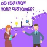 Текст сочинительства слова вы знаете ваш вопрос о клиента Концепция дела для обслуживания определить клиентов с уместным иллюстрация вектора