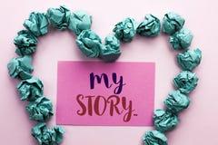 Текст сочинительства слова мой рассказ Концепция дела для портфолио профиля личной истории достижения жизнеописания написанного н стоковая фотография