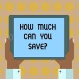 Текст сочинительства слова насколько может вы Savequestion Концепция дела для денег доступных для инвестировать финансы балансиру бесплатная иллюстрация