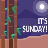 Текст сочинительства слова оно s воскресенье Концепция дела на день недели между остатками субботы и понедельника в большинств ст иллюстрация штока