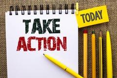 Текст сочинительства слова принимает действие Концепция дела для задачи цели деятельности при процедуре по действий стратегии буд стоковое изображение rf