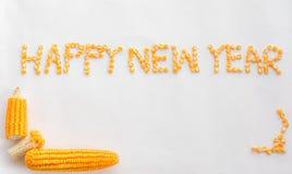 Текст счастливого Нового Года Стоковая Фотография RF