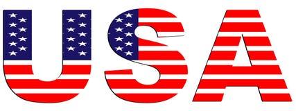 текст США Стоковые Изображения