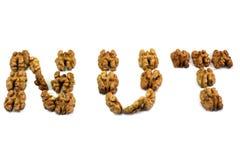 Текст сделанный из грецких орехов Стоковые Изображения RF