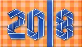 текст 2018 сделанный переплетенных оборачивая лент также вектор иллюстрации притяжки corel Стоковая Фотография RF