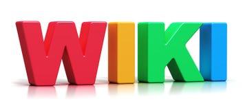 Текст слова цвета 3D Wiki Стоковое Изображение RF