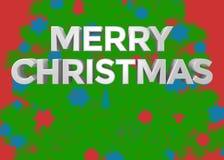 Текст с Рождеством Христовым 3D Стоковая Фотография RF