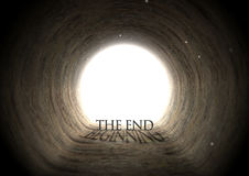 Текст тоннеля и концепция тени Стоковое фото RF