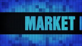 Текст фронта изучения рыночной конъюнктуры перечисляя доску знака дисплея с плоским экраном стены СИД видеоматериал