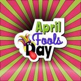 Текст шаржа дня дурачков в апреле Стоковое Изображение RF