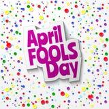 Текст шаржа дня дурачков в апреле Стоковое фото RF