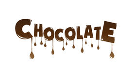 Текст шоколада сделанный плавить шоколада  Стоковые Фото