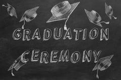 Выпускная церемония иллюстрация вектора