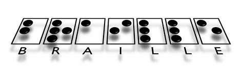 текст braille Стоковое Изображение RF