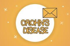Текст Crohn s почерка заболевание Заболевание смысла концепции воспалительное желудочно-кишечного тракта бесплатная иллюстрация