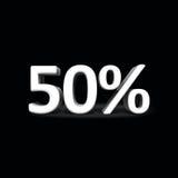 текст 3d продажи скидки на черной предпосылке Стоковое Изображение RF