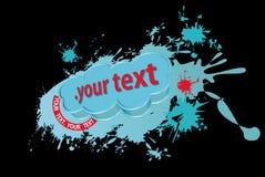 текст grunge знамени 3d Стоковая Фотография