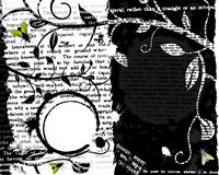 текст grunge мухы Стоковая Фотография RF