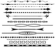 текст ornamental рассекателей стоковое изображение