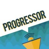 Текст Progressor почерка Персона смысла концепции которая делает прогресс или облегчает его в других мотивировка бесплатная иллюстрация