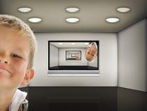 телевидение комнаты Стоковые Фото