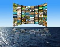 телевидение принципиальной схемы Стоковое фото RF