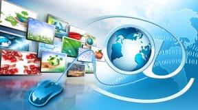 телевидение технологии продукции интернета Стоковое фото RF