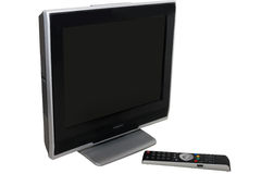 телевидение черного remote управления установленное Стоковые Изображения