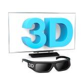 телевидение 3D Стоковое Фото