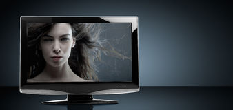 телевидение lcd установленное стоковые изображения rf