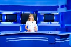 телевидение tv студии ведуща стоковые фото