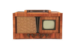 Телевизор год сбора винограда стоковое фото rf