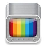 телевидение иконы установленное Стоковое Изображение