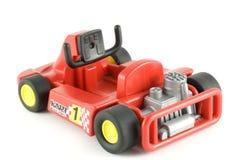 тележка автомобиля идет участвовать в гонке игрушка Стоковое фото RF