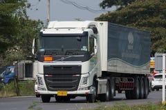 Тележка груза контейнера трейлера перехода Азии Stell Стоковые Изображения