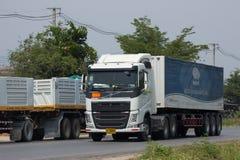 Тележка груза контейнера трейлера перехода Азии Stell Стоковое фото RF