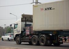 Тележка груза контейнера трейлера Совершенн Трейлера Компании Стоковая Фотография