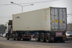 Тележка груза контейнера трейлера Совершенн Трейлера Компании Стоковое Изображение RF